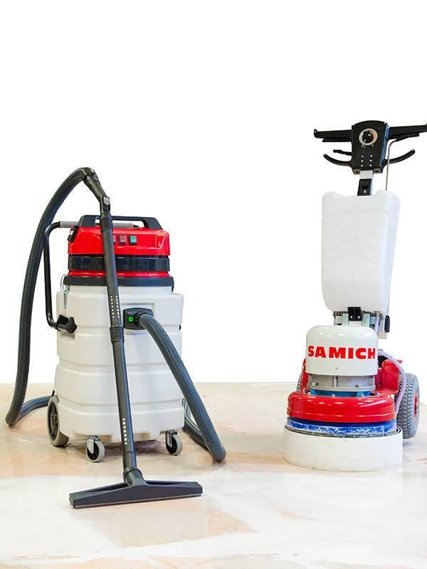 Floor grinding vacuum cleaners polishing machines panda for Vacuum cleaner for concrete floors